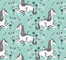 Unicorn // mint pastel andrea lauren  by Andrea Lauren