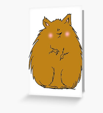 Fat hamster Greeting Card