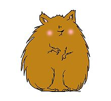 Fat hamster Photographic Print