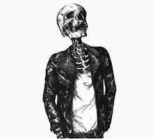 Skeleton wearing a jacket Unisex T-Shirt