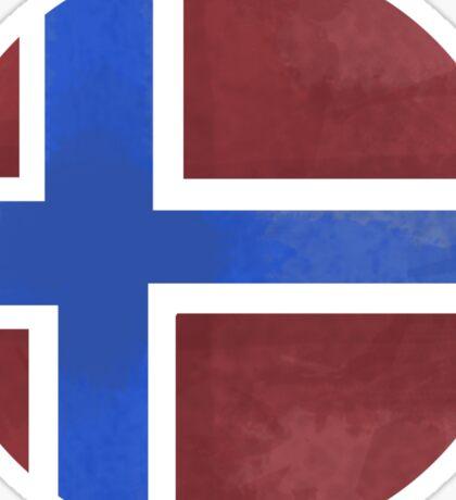 Norway ball flag Sticker