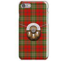 Clan Scott Tartan And Sporran iPhone Case/Skin