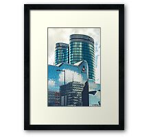 Mirroring office buildings Framed Print