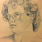 Color Pencil Self Portrait by Randy  Burns