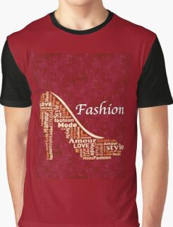 Red Fashion Shoe Graphic T-Shirt