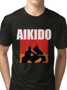 Aikido Martial Style Karate Sensei Style Hoodie T-shirt Tri-blend T-Shirt
