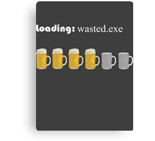 loading: wasted.exe Canvas Print