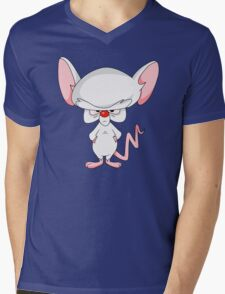 Pinky and The Brain - Brain Mens V-Neck T-Shirt