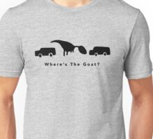 Where's The Goat? (Black) Unisex T-Shirt