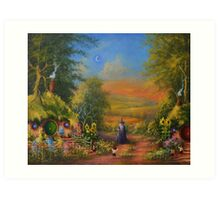 Hobbiton Disturbing The Peace  Art Print