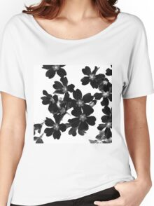 Primrose In Black and White Women's Relaxed Fit T-Shirt