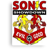Sonic Showdown Canvas Print
