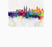 Basel skyline in watercolor background Unisex T-Shirt