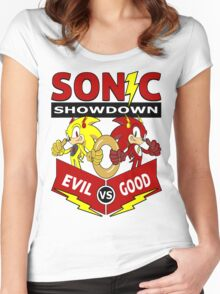 Sonic Showdown Women's Fitted Scoop T-Shirt