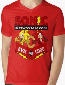 Sonic Showdown Mens V-Neck T-Shirt