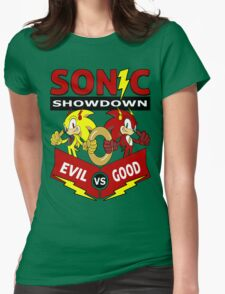 Sonic Showdown Womens Fitted T-Shirt