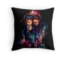 tardis dr who paint  Throw Pillow