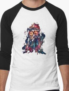 tardis dr who paint  Men's Baseball ¾ T-Shirt