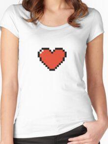 Pixel Heart Women's Fitted Scoop T-Shirt