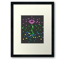 Pixel Flower Framed Print