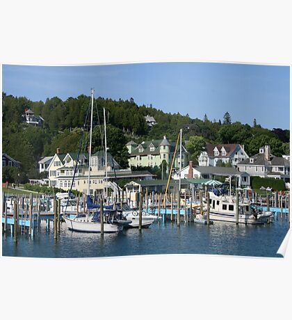 Mackinac Island Harbor Poster