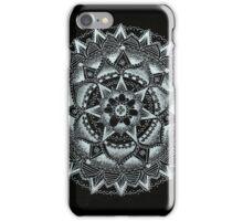 Black and white mandala iPhone Case/Skin
