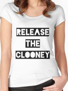 Release the Clooney (Black). Women's Fitted Scoop T-Shirt