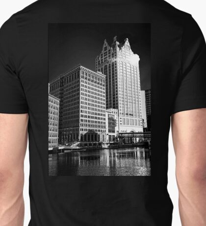 Milwaukee River and Structures Unisex T-Shirt