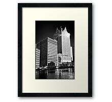 Milwaukee River and Structures Framed Print