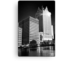 Milwaukee River and Structures Canvas Print