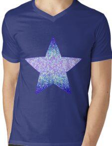 Glitter Graphic Mens V-Neck T-Shirt