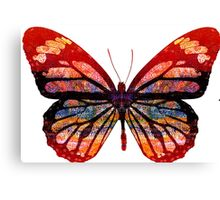 Butterfly Abstract Psychedelic Canvas Print