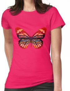 Butterfly Abstract Psychedelic Womens Fitted T-Shirt
