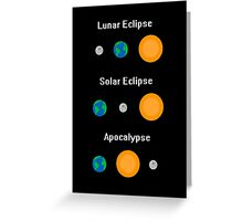 All Three Types of Eclipse Greeting Card