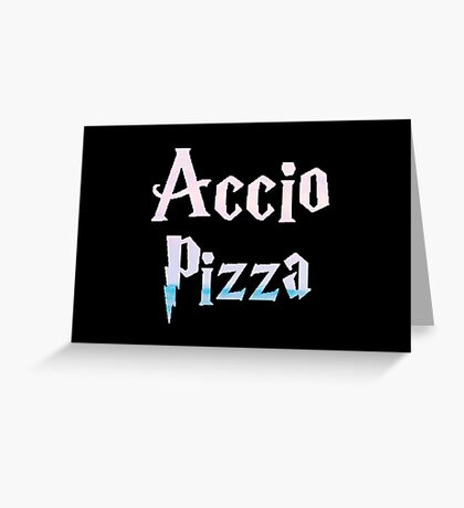 Accio Pizza Greeting Card