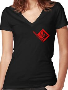 Metal Gear Rising - Desperado Enforcement Women's Fitted V-Neck T-Shirt