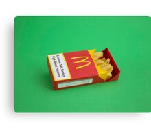 Pack of Fries Canvas Print