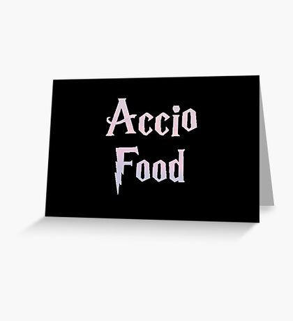 Accio Food Greeting Card