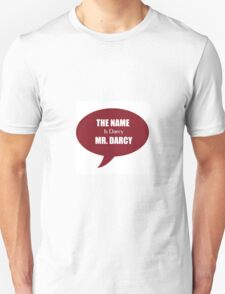 The Name is Darcy, Mr Darcy T-Shirt