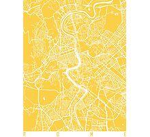 Rome map yellow Photographic Print