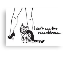 Pussy Cat Resemblance Canvas Print