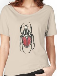 Cool Pretty Cute Bug Beetle Insect Illustration Drawing  Women's Relaxed Fit T-Shirt