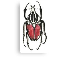 Cool Pretty Cute Bug Beetle Insect Illustration Drawing  Canvas Print