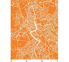 Rome map orange Photographic Print