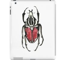 Cool Pretty Cute Bug Beetle Insect Illustration Drawing  iPad Case/Skin