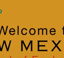 Welcome to New Mexico, Road Sign, USA Sticker