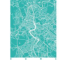 Rome map turquoise Photographic Print