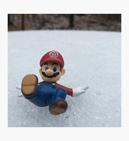 Mario Winter Wonderland  Photographic Print