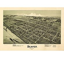 Aerial View of Beaver, Pennsylvania (1900) Photographic Print