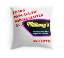 Milliways, Restaurant at the Edge of the Universe Throw Pillow
